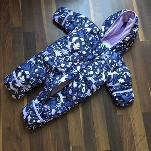NWOT Columbia baby girl snowsuit 3-6 months